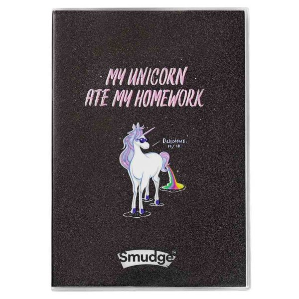 Unicorn Ate My Homework A4 Premium Notebook