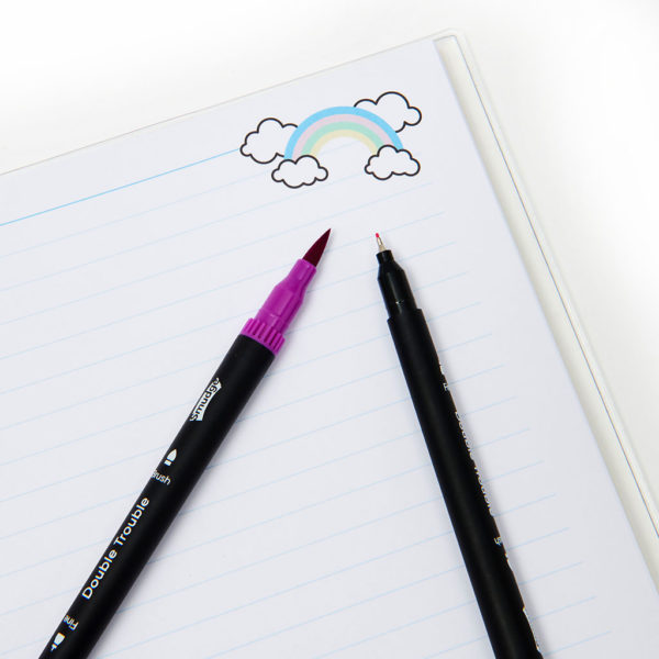 Rainbow Notebook Pens Detial 1024x1024 600x600 - Over The Rainbow A4 Premium Notebook